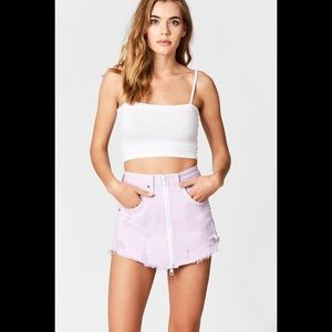 LF carmar lilac Beatrice zip front skirt